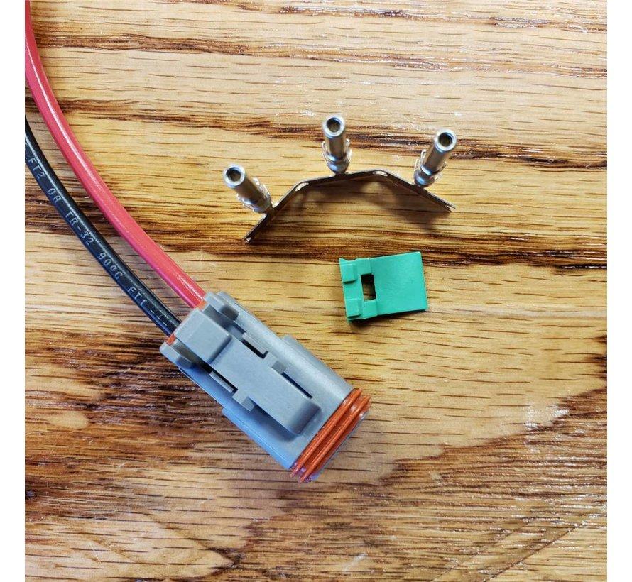 Deutsch - DT06-02 Sealed Male Connector (w/ terminals)