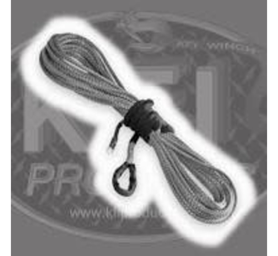 "- 1/4"" Synthetic 50' UTV Winch Cable (Smoke)"