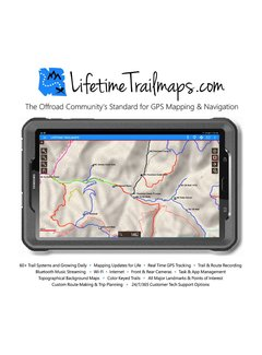 "Lifetime Trail Maps 8"" WATERPROOF Tablet 16G"