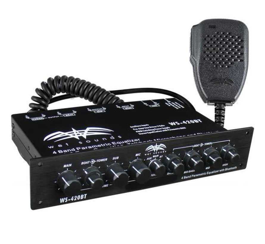 WS-420BT - Marine Multi Zone Equalizer with Integrated Bluetooth
