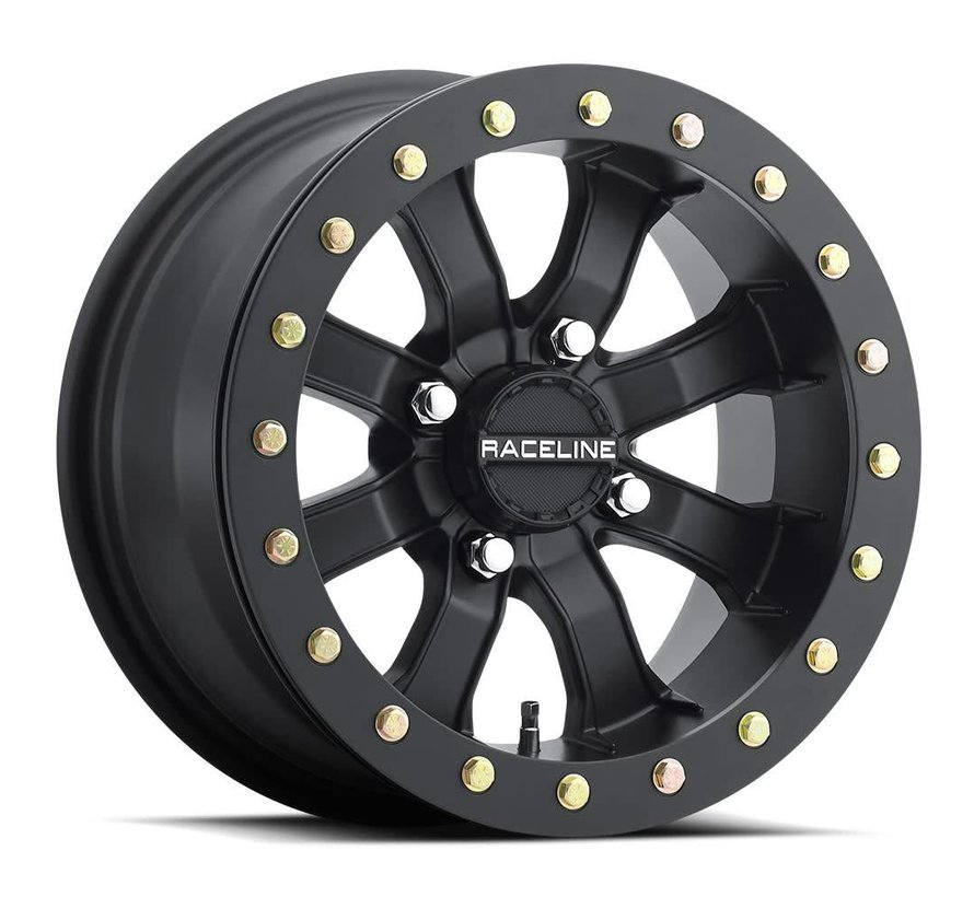 Raceline -  Mamba Blackout Beadlock  15x7 4/137 +0mm