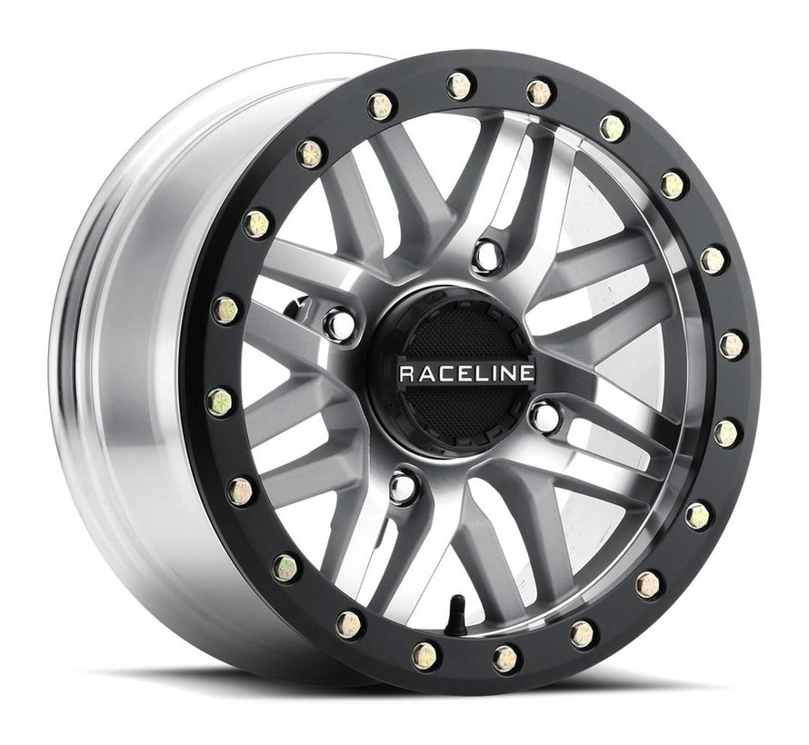 Raceline - Ryno Beadlock - Machined  15x7 4/137 5+2 +10mm