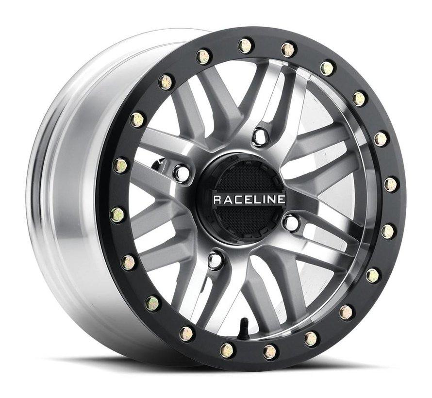 Raceline - Ryno Beadlock - Machined  14x7 4/156 5+2 +10mm