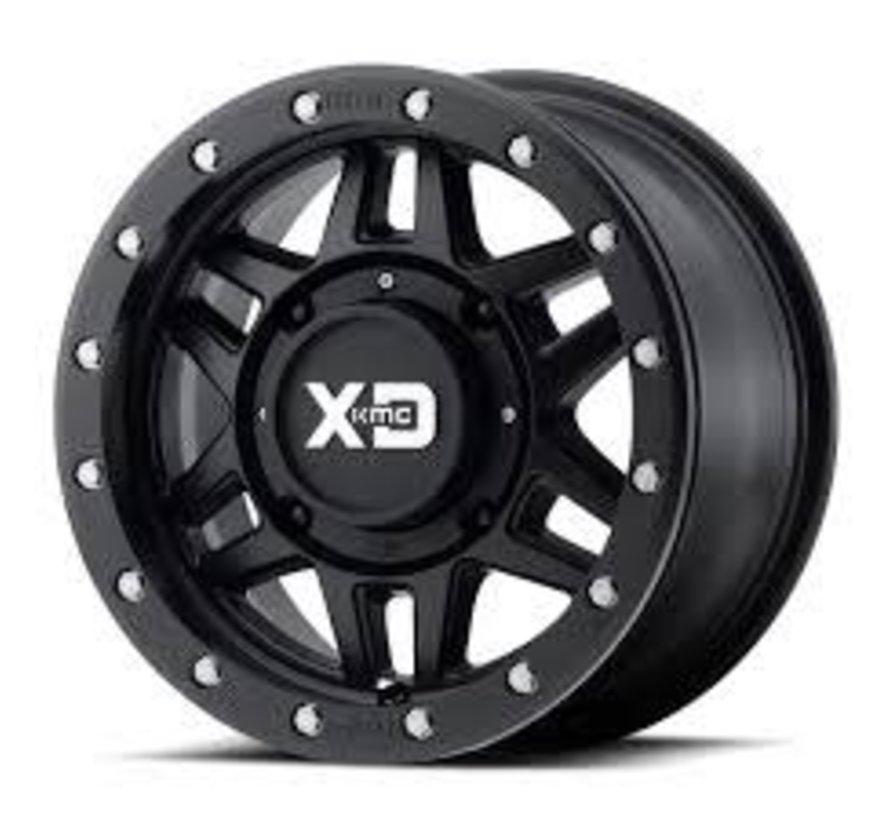 KMC - XS228 Machete Beadlock Satin Black  14x7 4/137 +35mm