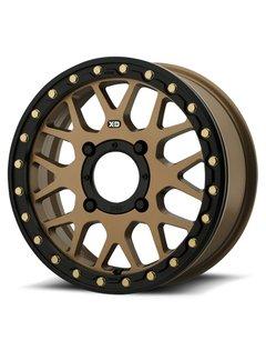 KMC XS235 Granade Beadlock - Satin Bronze 15x6 4/137 +38mm