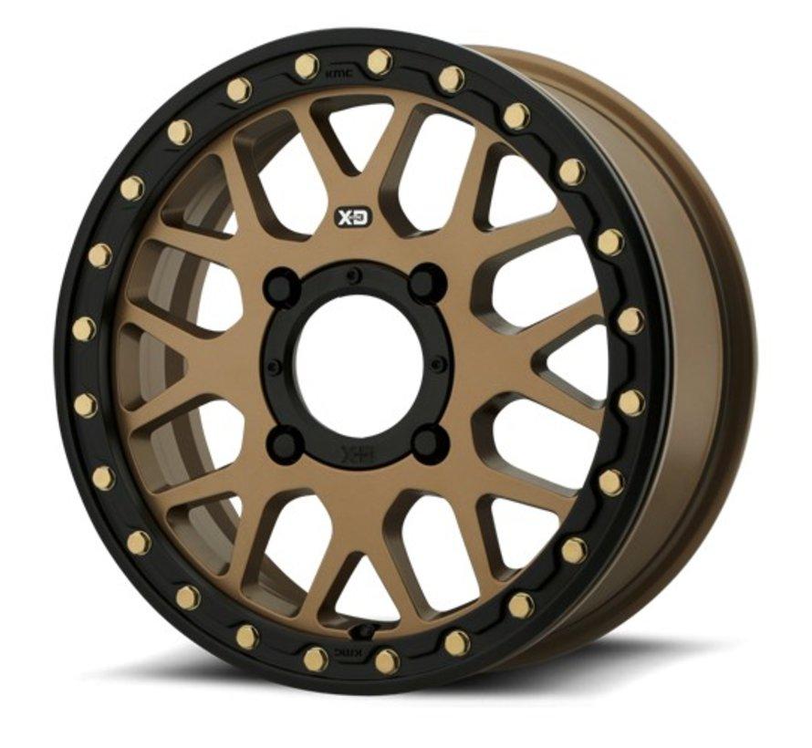 KMC - XS235 Granade Beadlock - Satin Bronze 15x6 4/137 +38mm