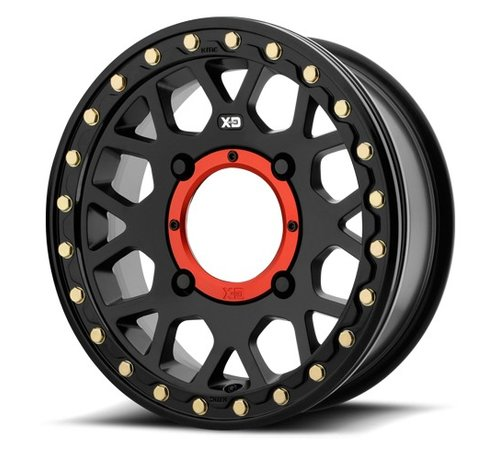 KMC KMC - XS235 Granade Beadlock - Satin Black  14x7 4/137 +10mm