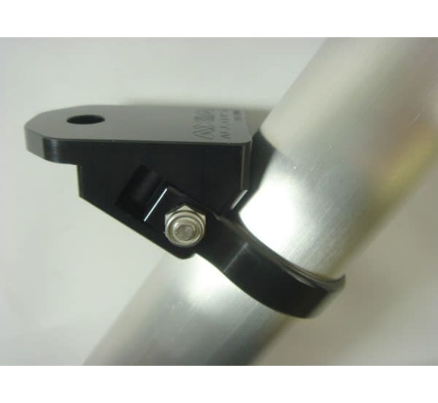 Axia Alloys - Angled Whip / Cage Pillar Light Mount .500 Hole - Black (Bar Clamp Not Included)