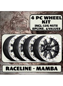 Raceline Mamba Beadlock  14x7 4/156 6+1 (4 Wheel Kit)