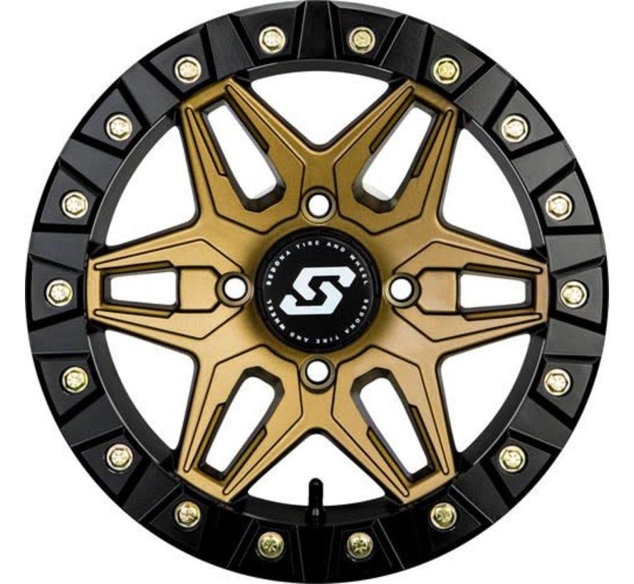 Sedona - Split 6 Beadlock - Bronze 14x7 4/156 5+2