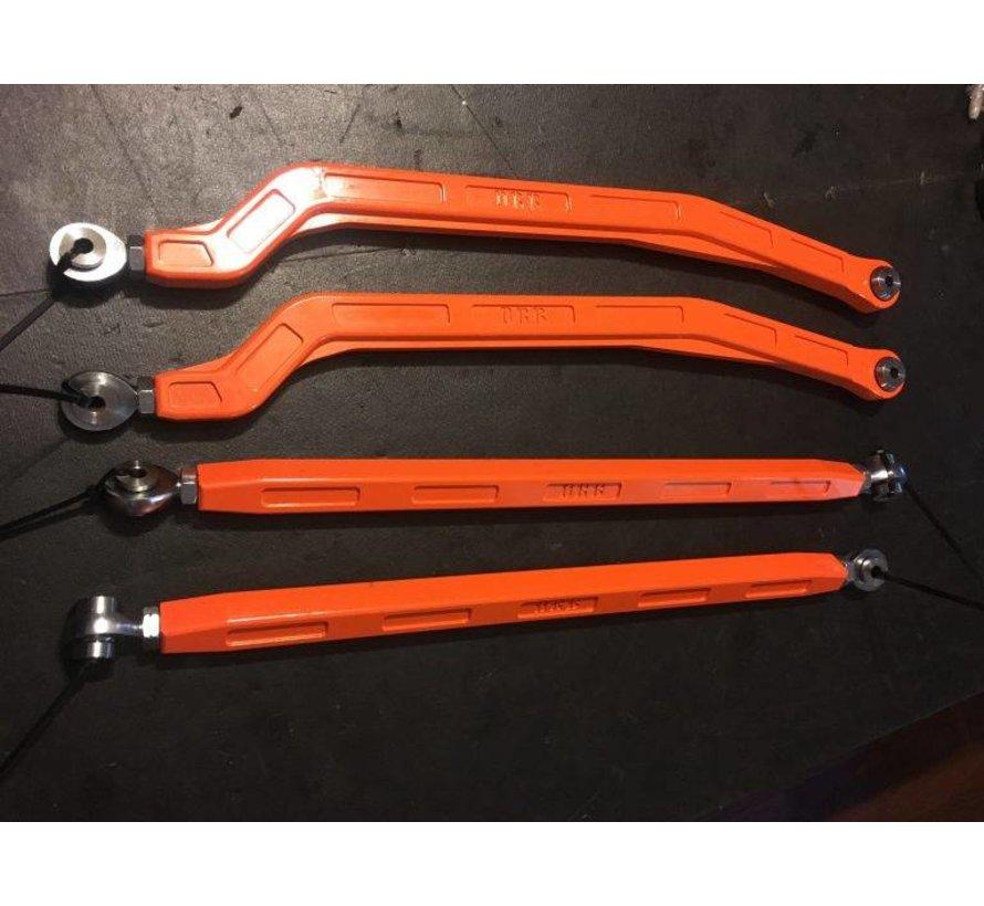 Aluminum Billet Radius Rod Set (12mm) - RAW