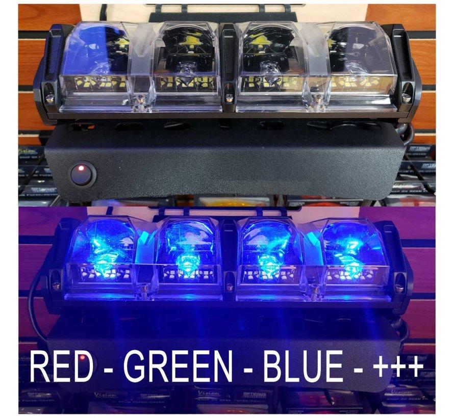 "10"" Multifunctional Day / Evening Running LED Light RGB Offroad  Light"