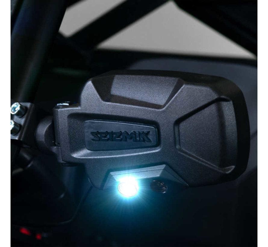 Seizmik - Pursuit Night Vision Series Side View Mirror (Pair – Cast Aluminum) – Polaris Pro-Fit and Can-Am Profiledmik -