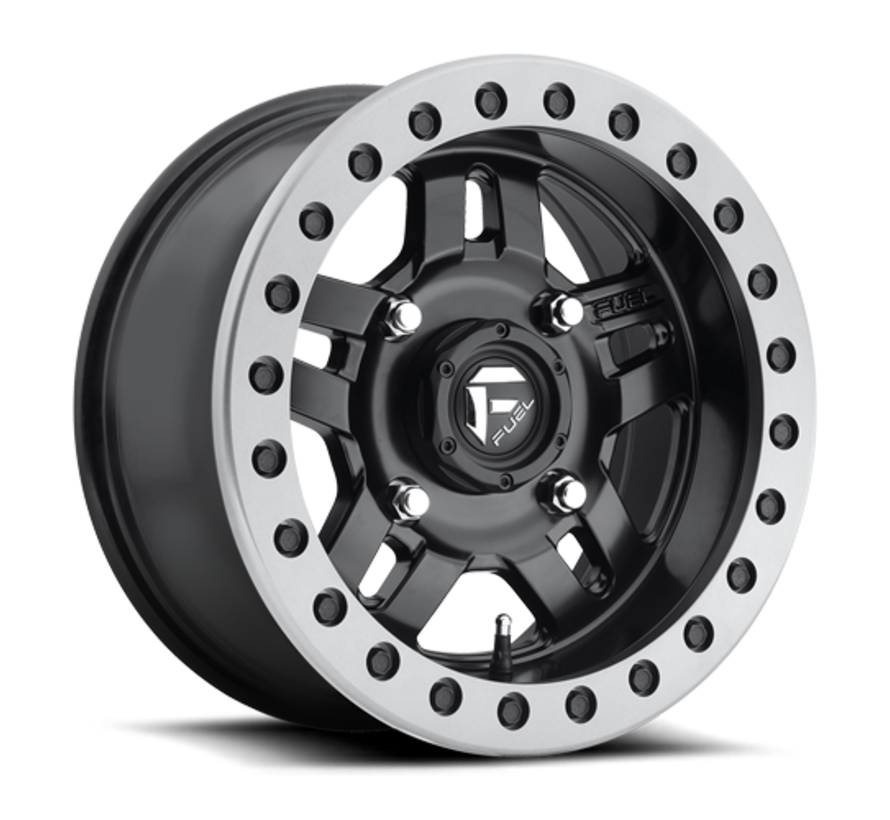 Fuel Off-Road - D917 Anza Beadlock Matte Black w/ Anthracite Ring 14x7 4/156 +13mm