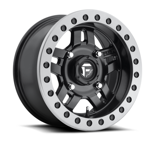 Fuel Off-Road Fuel Off-Road - D917 Anza Beadlock Matte Black w/ Anthracite Ring 14x7 4/136 +13mm