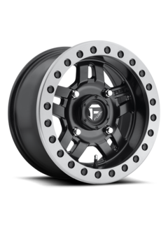 Fuel Off-Road Fuel Off-Road - D917 Anza Beadlock Matte Black w/ Anthracite Ring 15x7 4/136 +38mm