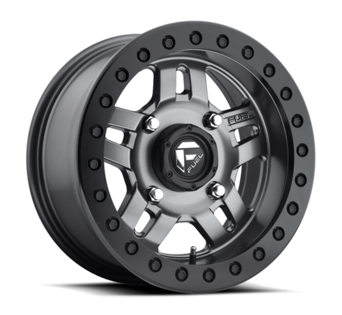 Fuel Off-Road Fuel Off-Road - D918 Anza Beadlock Matte Anthracite w/ Black Ring 14x7 4/156 +13mm