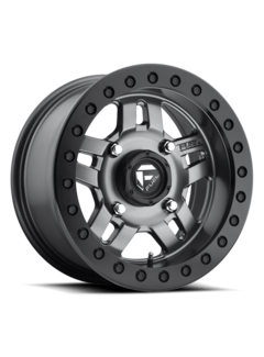 Fuel Off-Road Fuel Off-Road - D918 Anza Beadlock Matte Anthracite w/ Black Ring 14x7 4/136 +13mm