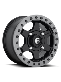 Fuel Off-Road Fuel Off-Road - D914 Gatling Beadlock Matte Black w/ Anthracite Ring 15x7 4/156 +55mm