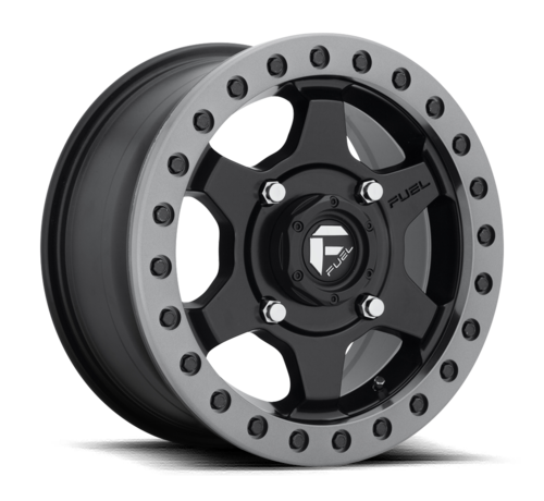 Fuel Off-Road Fuel Off-Road - D914 Gatling Beadlock Matte Black w/ Anthracite Ring 15x7 4/156 +55mm