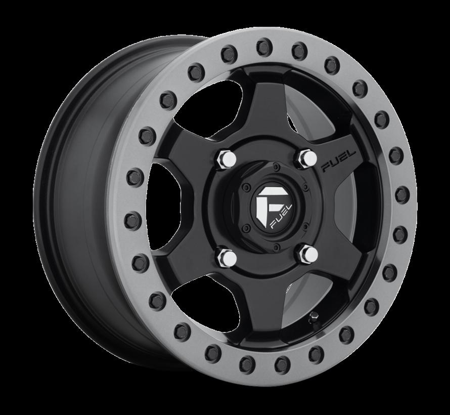 Fuel Off-Road - D914 Gatling Beadlock Matte Black w/ Anthracite Ring 15x7 4/156 +55mm