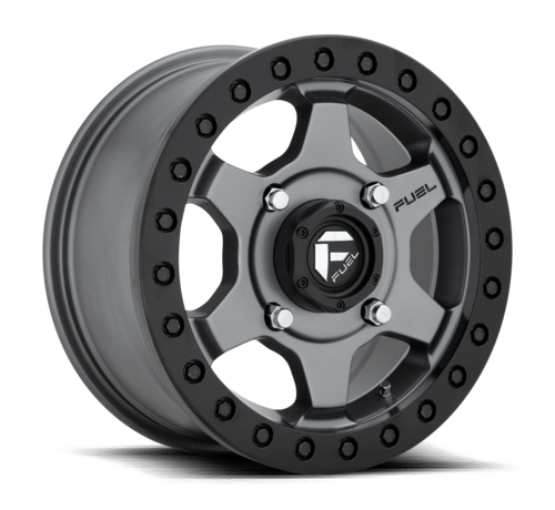 Fuel Off-Road Fuel Off-Road - D915 Gatling Beadlock Anthracite Center w/ Black Ring 15x7 4/136 +55mm
