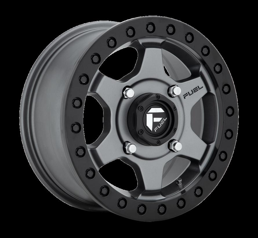 Fuel Off-Road - D915 Gatling Beadlock Anthracite Center w/ Black Ring 15x7 4/136 +55mm