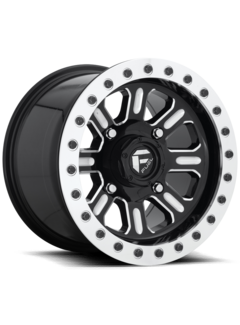 Fuel Off-Road Fuel Off-Road - D910 Hardline Beadlock (Lightweight Ring) Gloss Black & Milled 15x7 4/136 +38mm