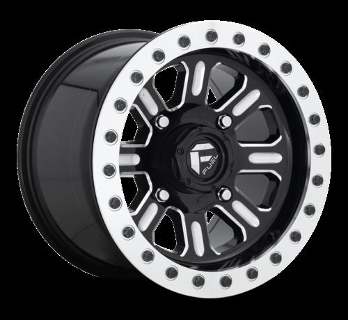 Fuel Off-Road Fuel Off-Road - D910 Hardline Beadlock (Lightweight Ring) Gloss Black & Milled 15x10 4/136 +25mm