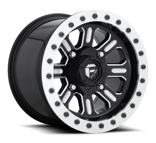 Fuel Off-Road Fuel Off-Road - D910 Hardline Beadlock (Lightweight Ring) Gloss Black & Milled 15x10 4/156 +25mm