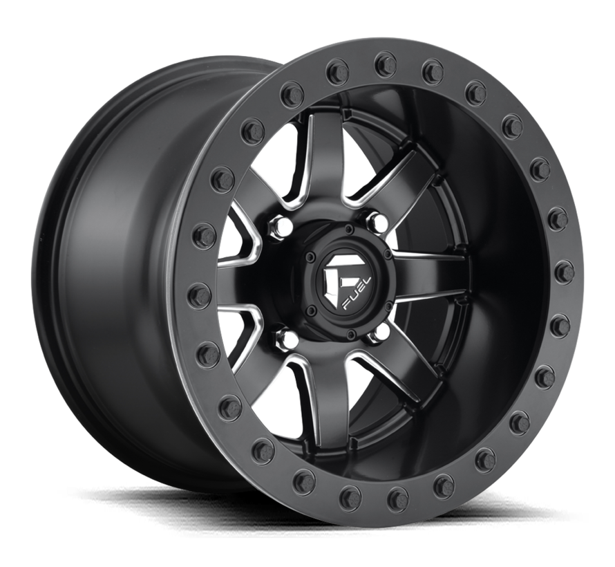 Fuel Off-Road - D928 Maverick Beadlock Black & Milled 14x8 4/156 +0mm