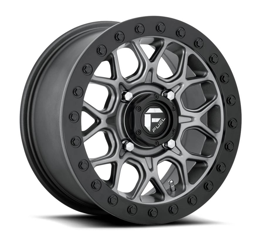 Fuel Off-Road - D919 Tech Beadlock Black Center w/ Black Beadlock 15x7 4/156 +38mm