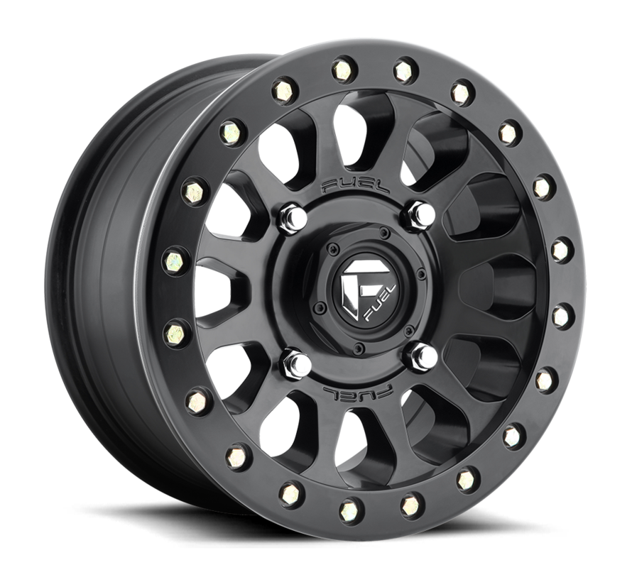 Fuel Off-Road - D920 Vector Beadlock Matte Black 15x7 4/137 +13mm