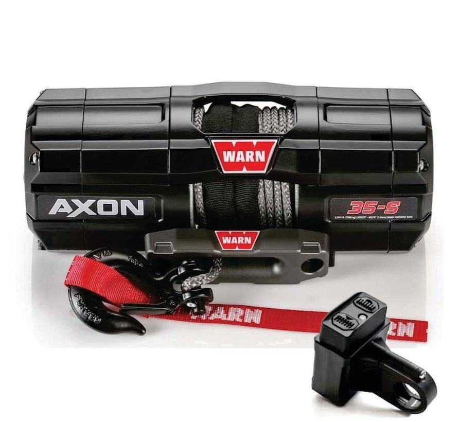 Warn - Axon 3500 - Spydura Synthetic Rope - Includes Heavy Duty Winch Saver