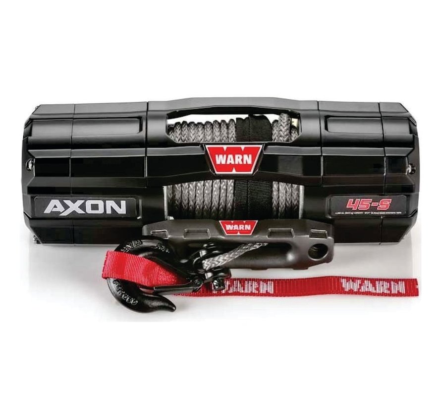 Warn - Axon 4500S - Spydura Synthetic Rope - Includes Heavy Duty Winch Saver