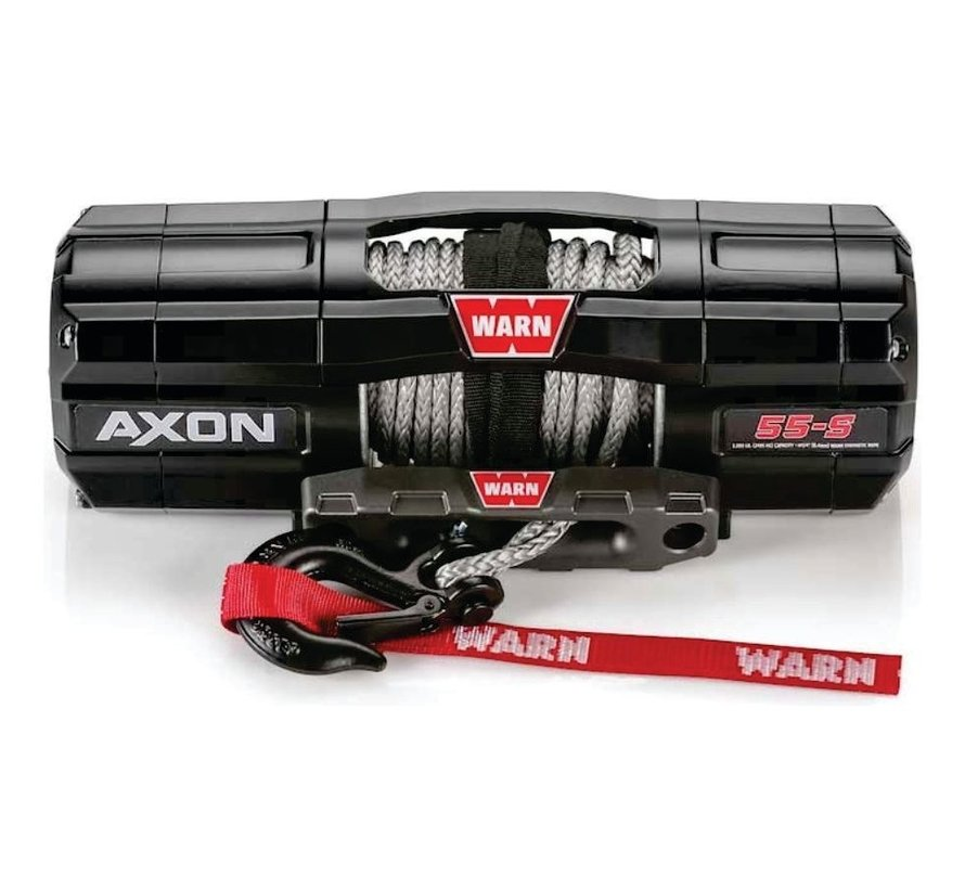 Warn - Axon 5500S - Spydura Synthetic Rope - Includes Heavy Duty Winch Saver