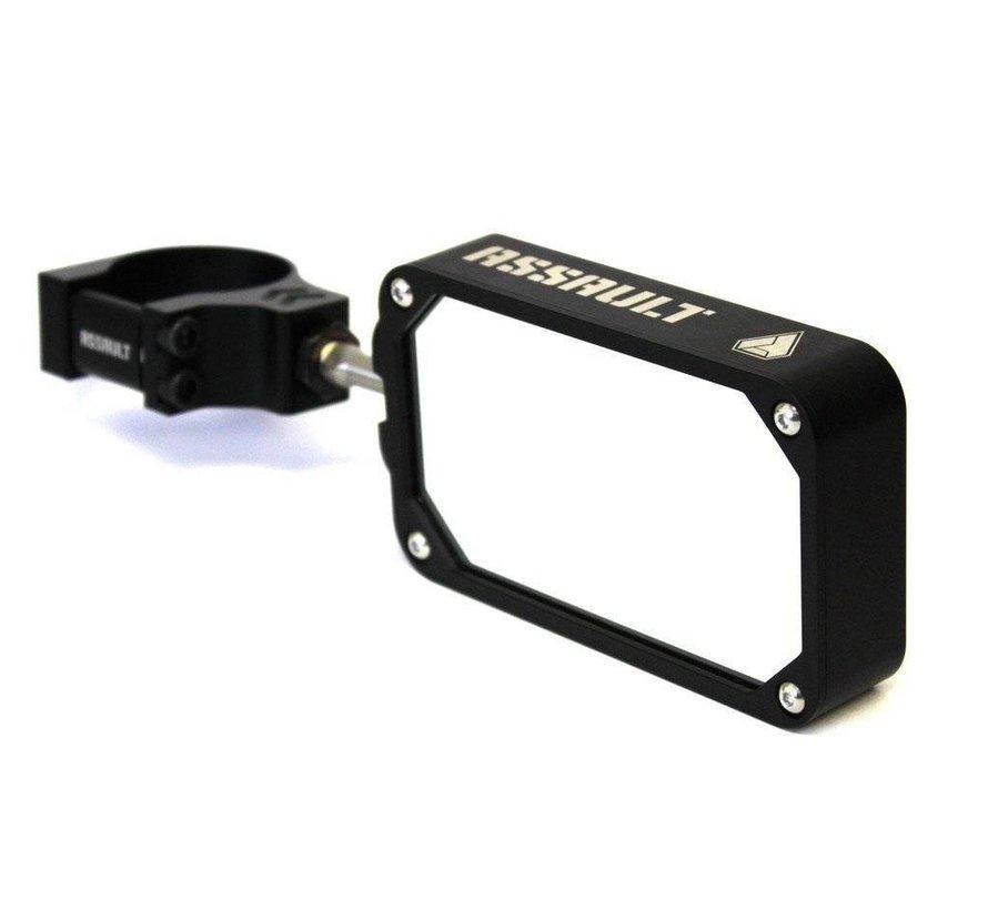 COMBAT Billet Side Mirror (set) w/Clamp Black/Blue