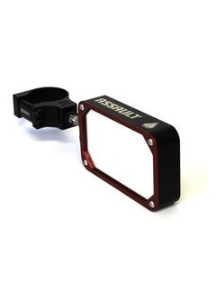 Assault COMBAT Billet Side Mirror (set) w/Clamp Black/Red
