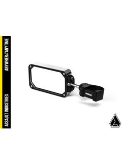 Assault COMBAT Billet Side Mirror (set) w/Clamp Black