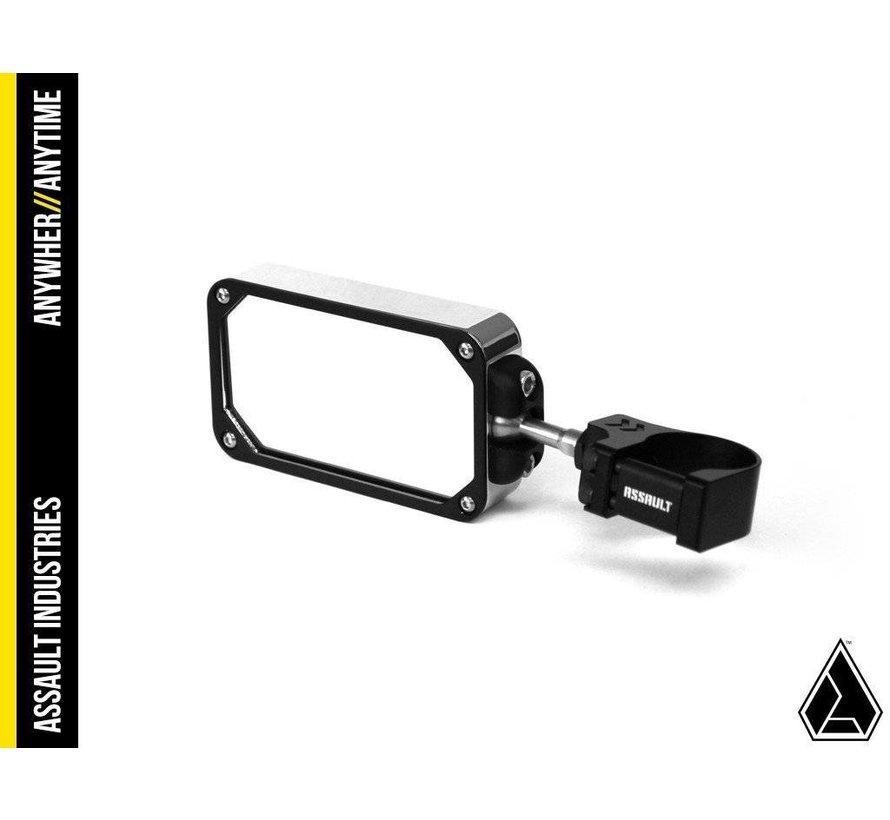 COMBAT Billet Side Mirror (set) w/Clamp Black/Black