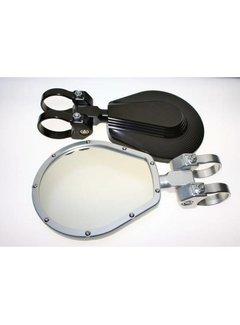 "Axia Alloys 6"" Flat Folding Mirror - Black"