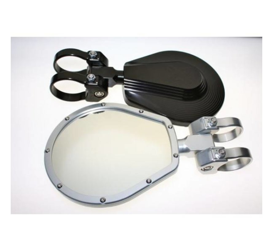 "6"" Flat Folding Mirror - Black"