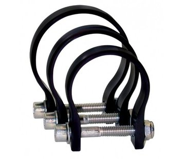 "Axia Alloys 1.75"" Cage Strap Clamp - Black"