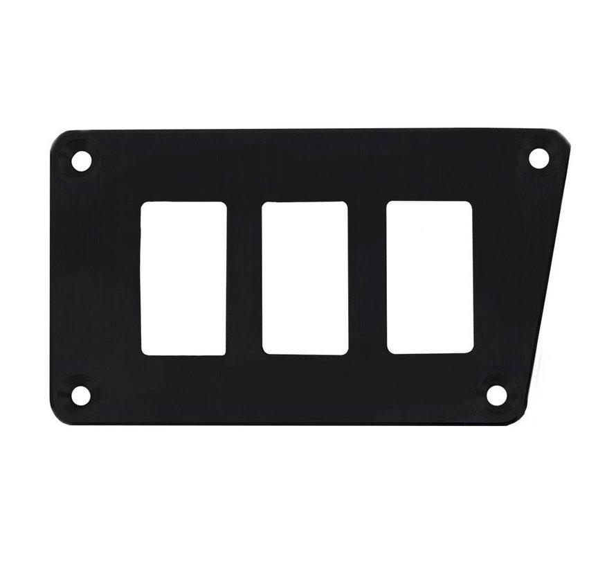 - 3 Switch Panel - RZR Low Left - Black