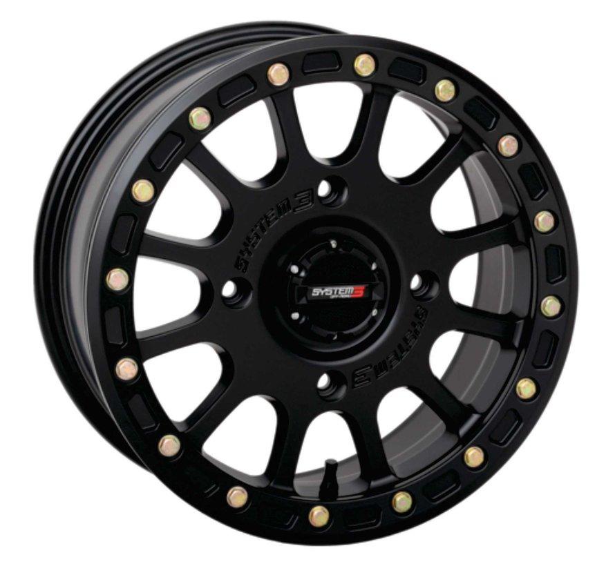 System 3 Off-Road SB-5 Beadlock Wheels  15X7 4/156 5+2 SBL MT BLK