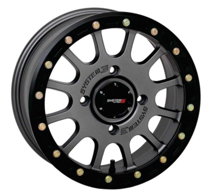 System 3 Off-Road SB-5 Beadlock Wheels  15X7 4/137 5+2 SBL MT GRY