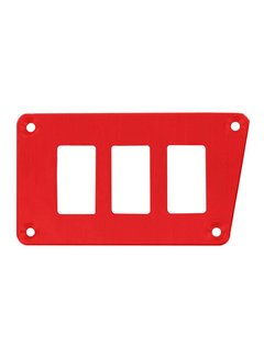 Outdoor Logic Outdoor Logic - 3 Switch Panel - RZR Low Left - Red