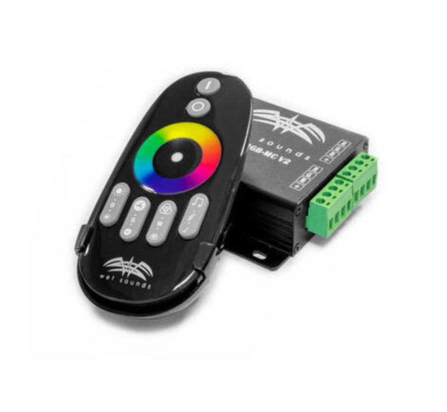RF-RGB-MC V2 | Wet Sounds RF RGB Music Controller W/ Touch Activated Remote