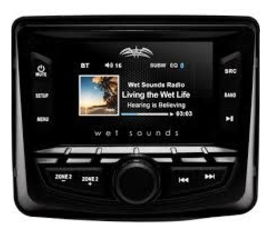 Wet Sounds - WS-MC- 2 WS-MC-2  AM/FM/Weather Band Tuner With RDS and SiriusXM-Ready®