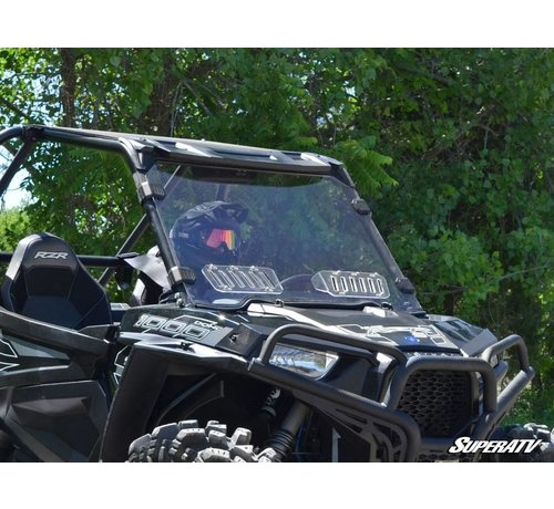 SuperATV SATV - RZR 900/1000/Turbo 2014-2018 Full VENTED Windshield - Clear Scratch Resistant